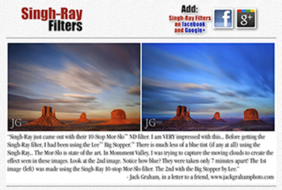 Singh-Ray Filters Website